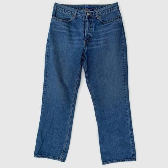 J. Crew Denim - J Crew Vintage Button Fly Straight Leg Mom Jeans